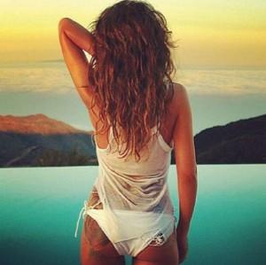 cheryl Cole, Instagram, lato b, rosa, tatuaggio, sexy,gossip,news,notizie,vip,foto,