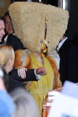 Lady, Gaga, albergo, Germania, cappello, copricapo, travestimento,musica,news,notizie,gossip,vip,diva,cantante