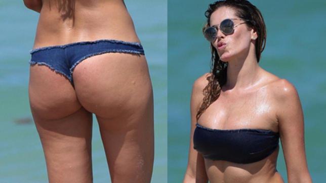 Yespica in bikini a Miami, pensando all'Italia
